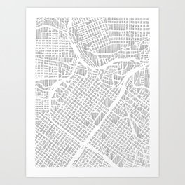 houston city print Art Print