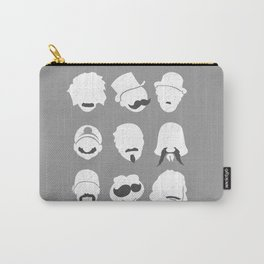 Famous Moustaches grey Carry-All Pouch