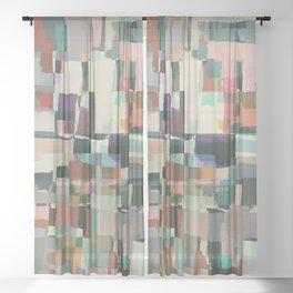 Abstract Painting No. 8 Sheer Curtain
