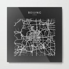 Beijing, China Street Map Metal Print