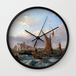 Clarkson Stanfield Tilbury Fort Wind Against the Tide Wall Clock