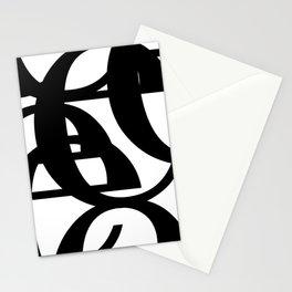 Hidden Letters. Baskerville E Stationery Cards