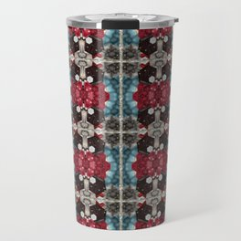 Raspberry & Chocolate Blue skies Travel Mug
