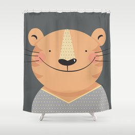 Tiger in pajamas Shower Curtain