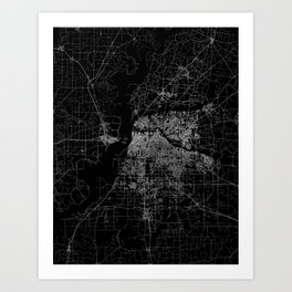 Memphis map Art Print