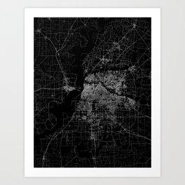 Memphis map Art Print