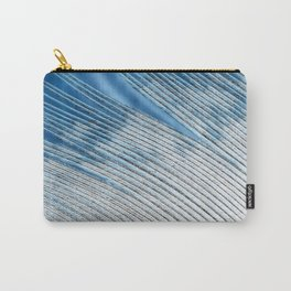 White and Blue Feather Tip | Feathers | Spirit | Nadia Bonello Carry-All Pouch