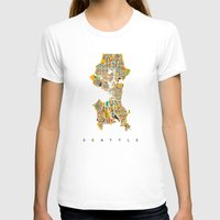 seattle T-shirts featuring Seattle by Nicksman