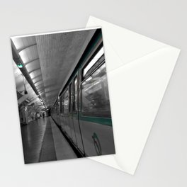 paris metro black and white with color Stationery Cards