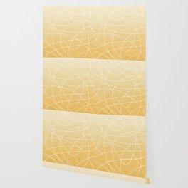 Scribble Linen - Sunflower Yellow Wallpaper
