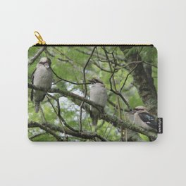 Three kookaburras sharing a laugh Carry-All Pouch