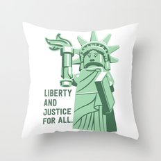 Liberty and Justice Throw Pillow