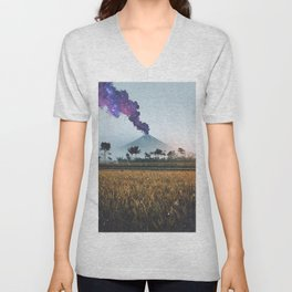 Volcano Eruption Unisex V-Neck