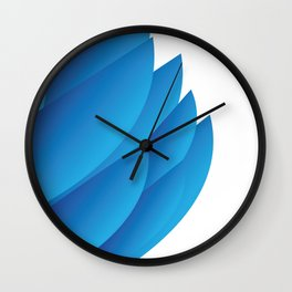 Blue Feathers Wall Clock
