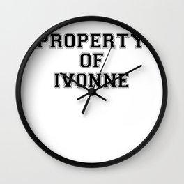 Property of IVONNE Wall Clock