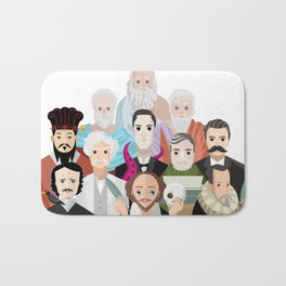 great philosophers and writers from all times Bath Mat
