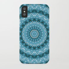 Light Blue Kaleidoscope / Mandala Slim Case iPhone X