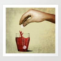 tea Art Prints featuring Tea by gazonula