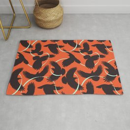 Crows with Ribbon Rug