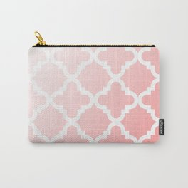 Faded Pink Quatrefoil Carry-All Pouch