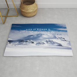 Life is either a daring adventure or nothing at all. ICELAND (Helen Keller Quote) Rug