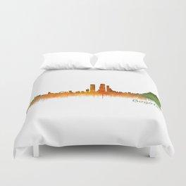 Bogota City Skyline Hq V2 Duvet Cover