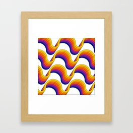 Rainbow Ribbons Framed Art Print