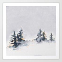 Watercolor Pine Art Print