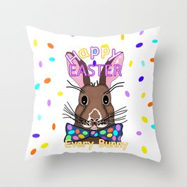 Happy Easter Every Bunny Throw Pillow
