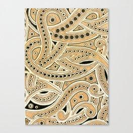 Golden Ribbons Canvas Print