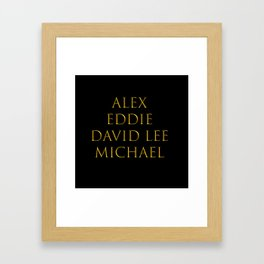 Bandmates XVI (VH) Framed Art Print