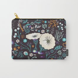Subsea floral pattern Carry-All Pouch