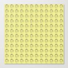 Bill Murray Pattern Yellow Canvas Print