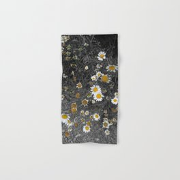 Black And White With Daisies Hand & Bath Towel