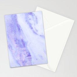 Shimmery Sky Blue Indigo Marble Metallic Stationery Cards