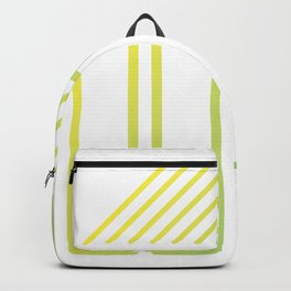 Geometrie gelb Backpack