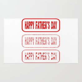 Fathers Day Rubber Stamp Collection Rug