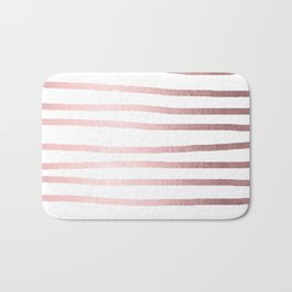 Simply Drawn Stripes Rose Quartz Elegance Bath Mat