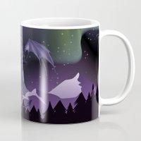 aurora Mugs featuring Aurora by Melissa Dekker