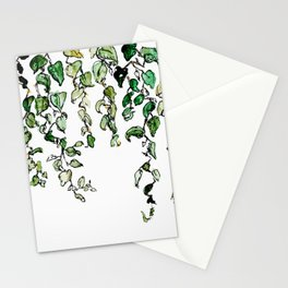 Hanging leaves - watercolor Stationery Cards