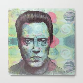 Christopher Walken - I Don't Need To Be Made To Look Evil. I Can Do That On My Own. Metal Print