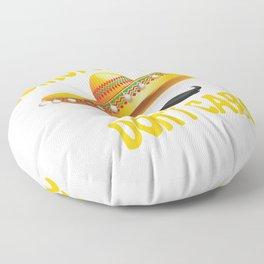 Cinco de Mayo Sombrero Hair Don't Care Floor Pillow