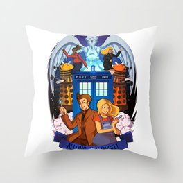 Doctor Who - Allons-y Alonso ! Throw Pillow