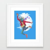 birdman Framed Art Prints featuring BIRDMAN by GENO