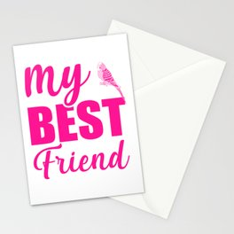 My Best Friend Is A Budgie mag Stationery Cards