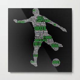 Soccer Player I Leisure Time Soccer Player Metal Print