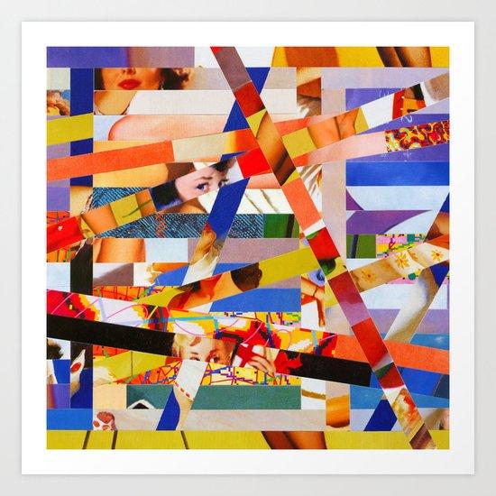 Jacqueline (stripes 7) Art Print