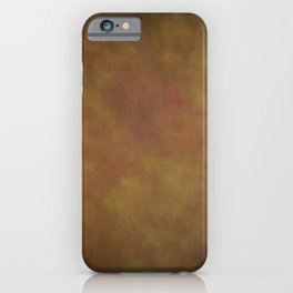 Abstract Watercolor Patch Work Blend 11 Light Brown & Dark Brown, Earth Tones iPhone Case