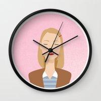 tenenbaum Wall Clocks featuring margot tenenbaum by WreckThisGirl