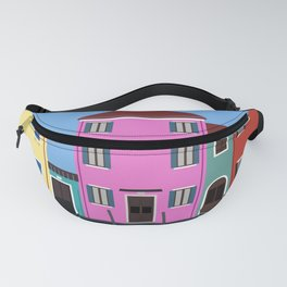 Isola di Burano, Italy Travel Poster Fanny Pack